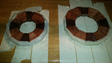 3. each layer is established with a different diameter meaning different length segments are used in the circle