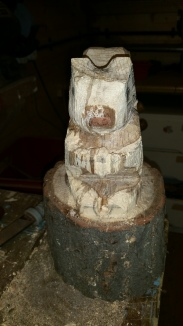 11. Carve out the back feet and the underside of the acorn and paws.
