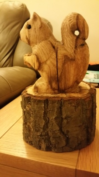 22. The carving was finished with Danish Oil.