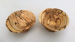 Spalted birch bowls