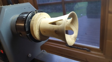 19. The goblet can now be sanded to blend the inside and outside surfaces